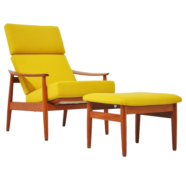 High Quality Arne Vodder Cado Lounge Chair And Foot Stool 1962