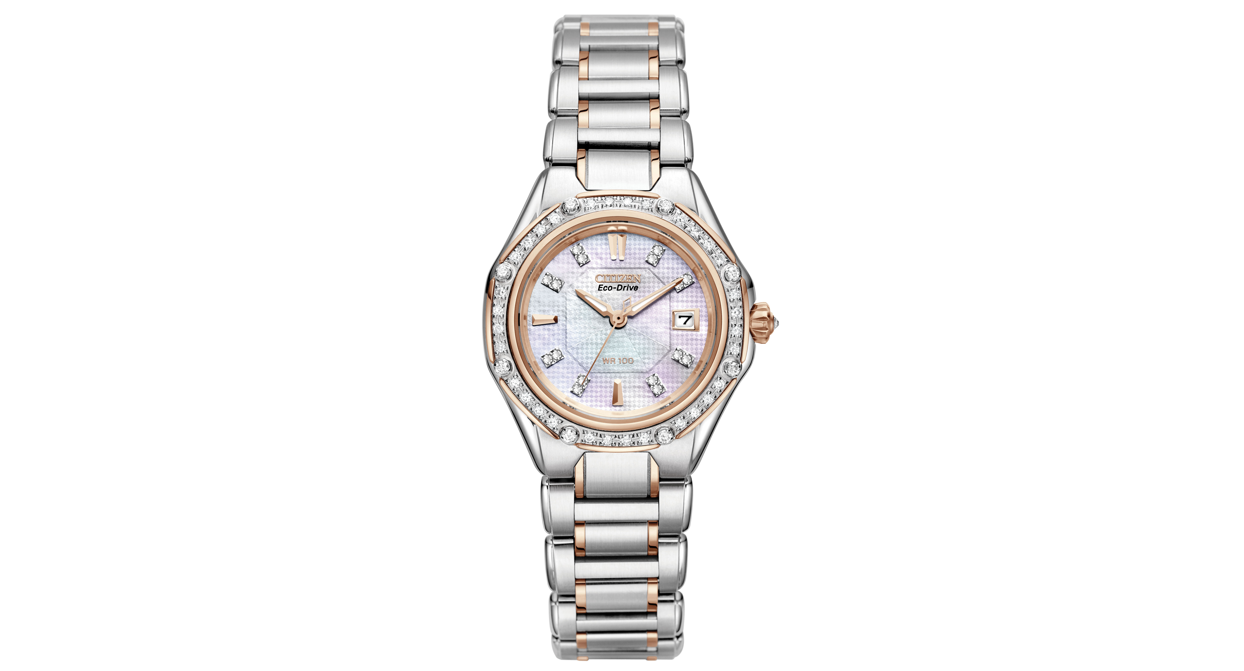 Citizen Women's Signature Octavia Eco-Drive Diamond (1/2 ct. t.w.) Two Tone Stainless Steel Bracelet Watch 29mm EW2096-57D