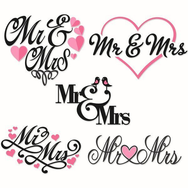 Mr. and Mrs.Wedding Cuttable Designs