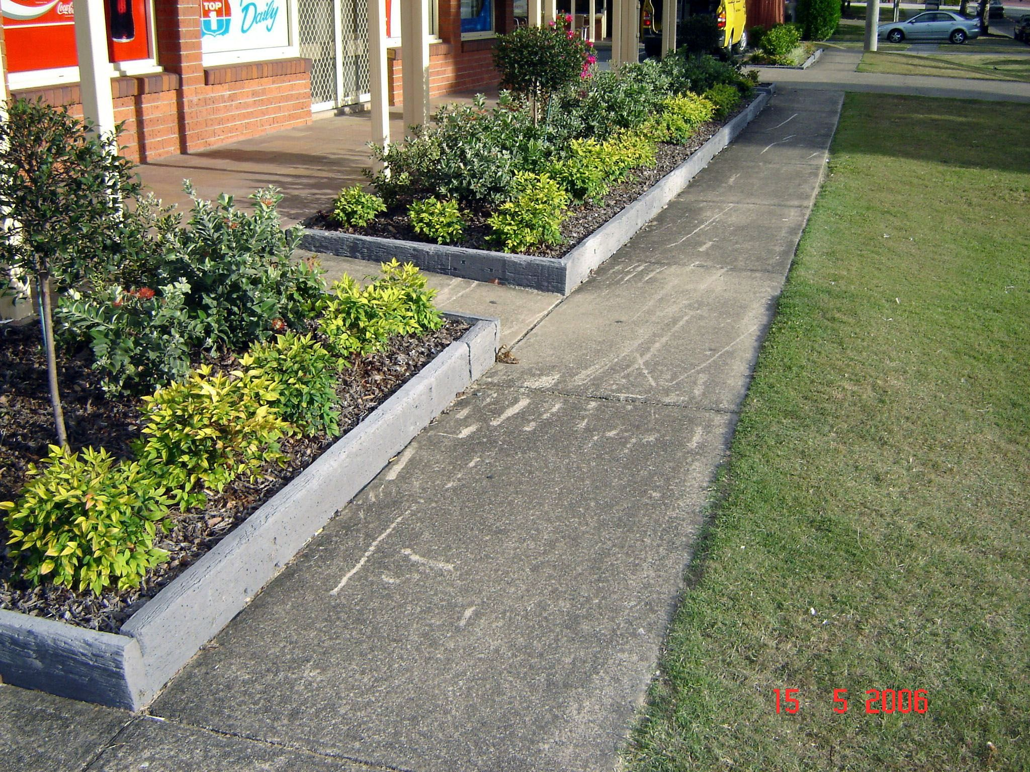 New stacked stone flower bed edging exclusive on kennys