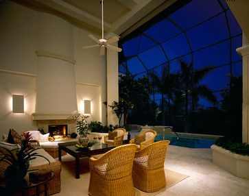 "Sater Group's ""Sumatra"" Custom Home Plan - traditional - patio - miami - Sater Design Collection, Inc."