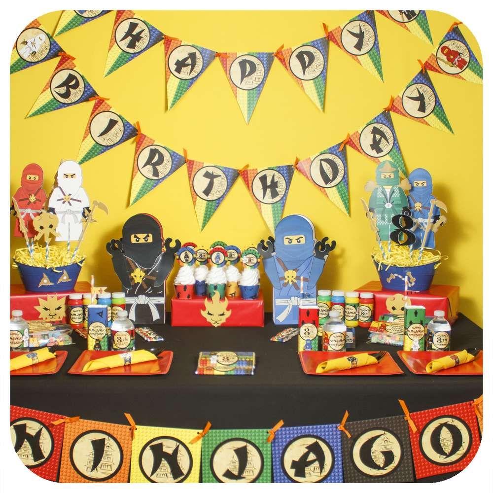 A Lego Ninjago Birthday Party: Ninjago Legos Birthday Party Ideas