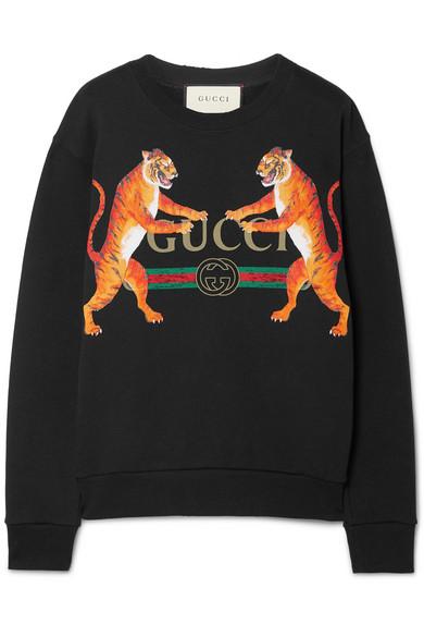 82ea98c39 Gucci - Oversized Printed Cotton-jersey Sweatshirt - Black ...