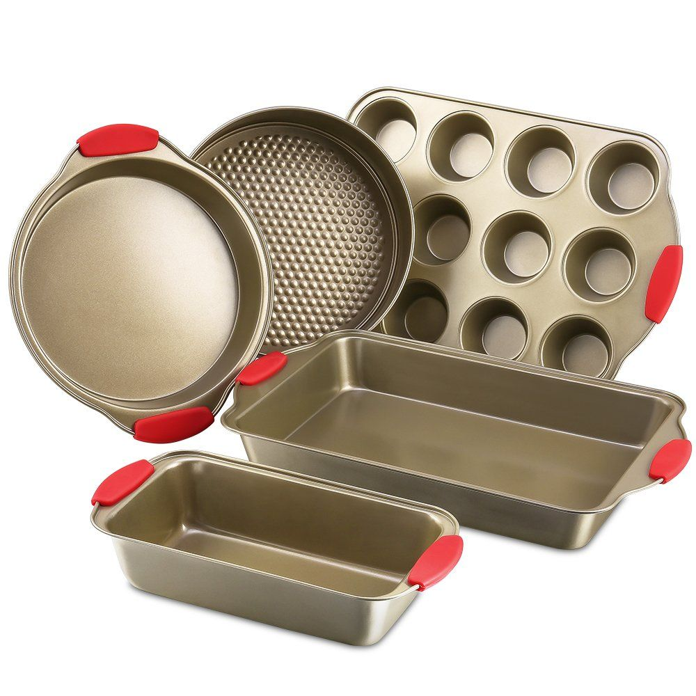 Bakeware Set Kitchen Komforts 5piece Nonstick Baking Pan Set With