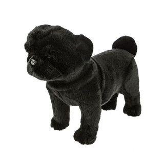 Pug Dog Black Standing Midnight Bocchetta Pug Dog Black Pug