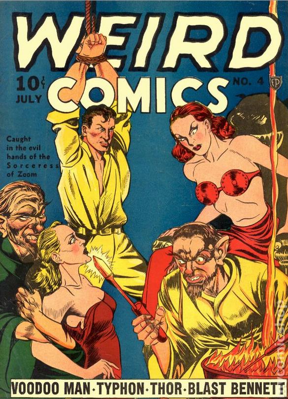 Comic books in bondage