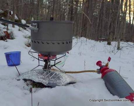 MYOG Reflectix Insulated Stove Base for Winter Camping