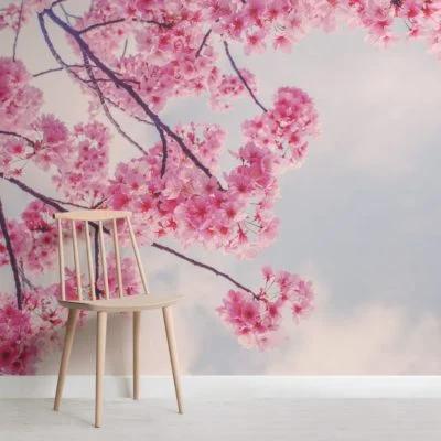 Cherry Blossom Branch Wallpaper Mural Hovia Cherry Blossom Wallpaper Cherry Blossom Branch Cherry Blossom Bedroom