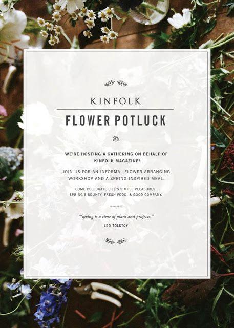 Kinfolk x Restored Flower Potluck.