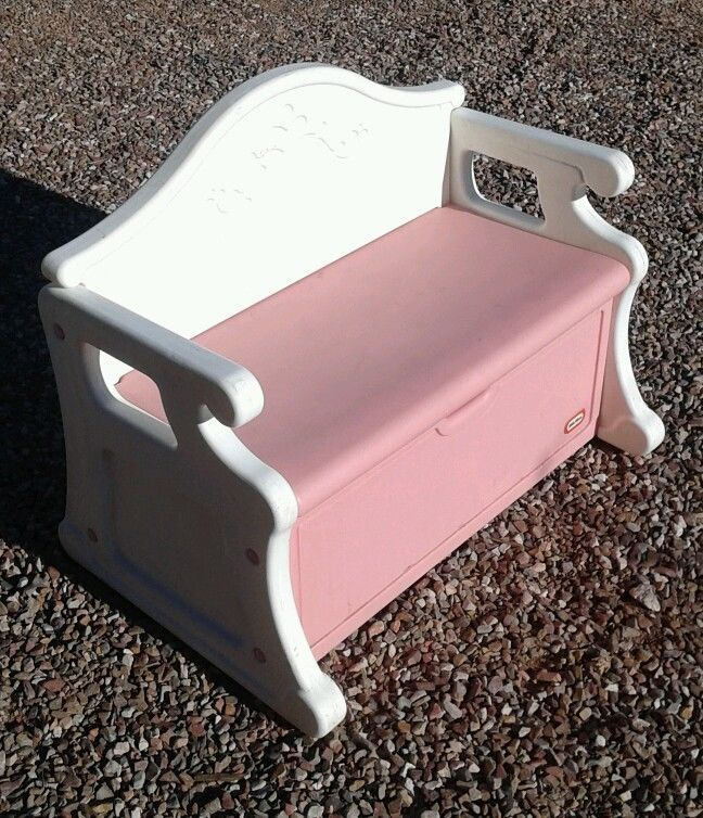 Phenomenal Vintage Little Tikes Child Size Toy Box Bench Pink Victorian Creativecarmelina Interior Chair Design Creativecarmelinacom