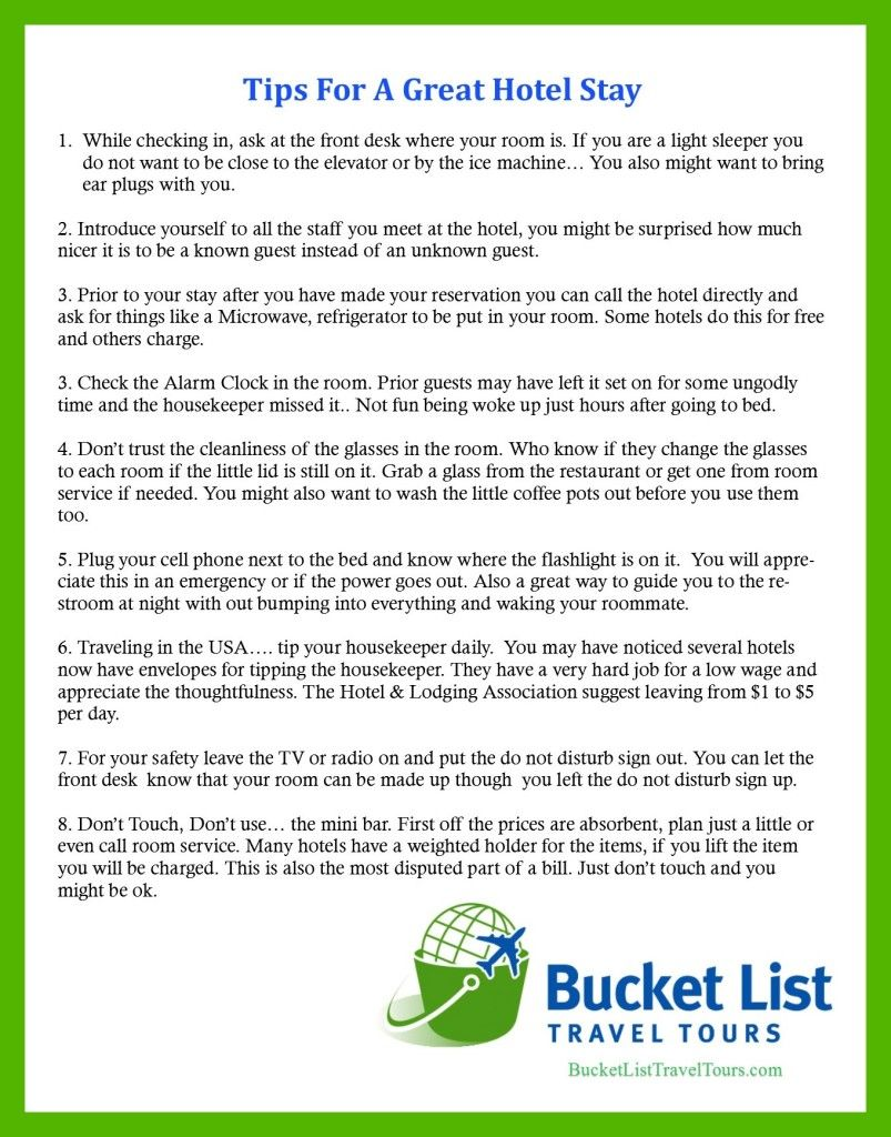 Tips For A Great Hotel Stay Travel Info And Tips - 8 tips on how to pack light for your next vacation