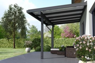 REXOclassic Alu Terrassenüberdachung 4m x 2m, VSG-Vorbereitung ...