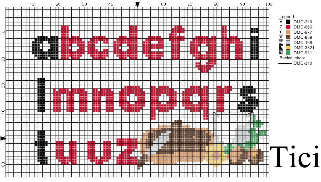 Alfabeto nutella a punto croce cross stitch for Alfabeto disney a punto croce