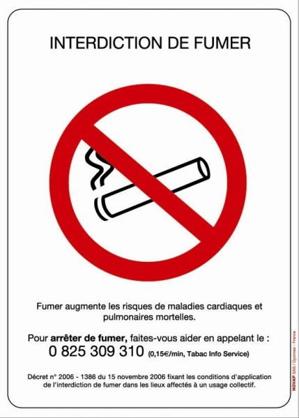 Panneau Interdiction De Fumer Interdiction De Fumer Fumer
