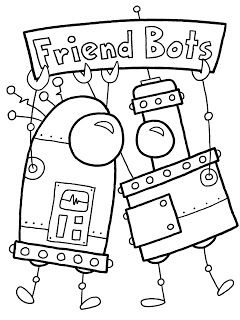 Witty Title Coming Soon: Robots coloring pages | Kids Fun ...