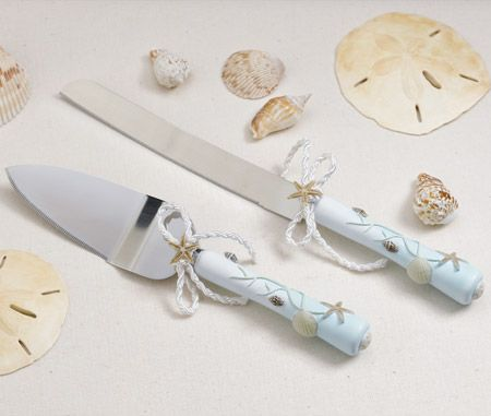 This Beach Inspired Wedding Cake Knife And Server Set Is The