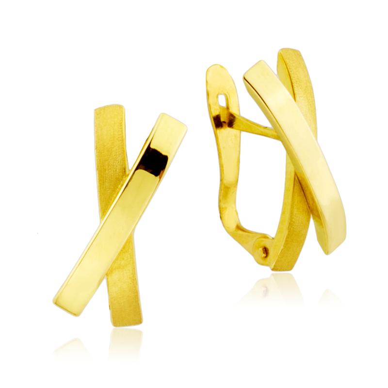 tienda de liquidación 7d9db ba0b0 Pendientes Aspa en oro de 18k - ARESSO | Pendientes de Oro ...
