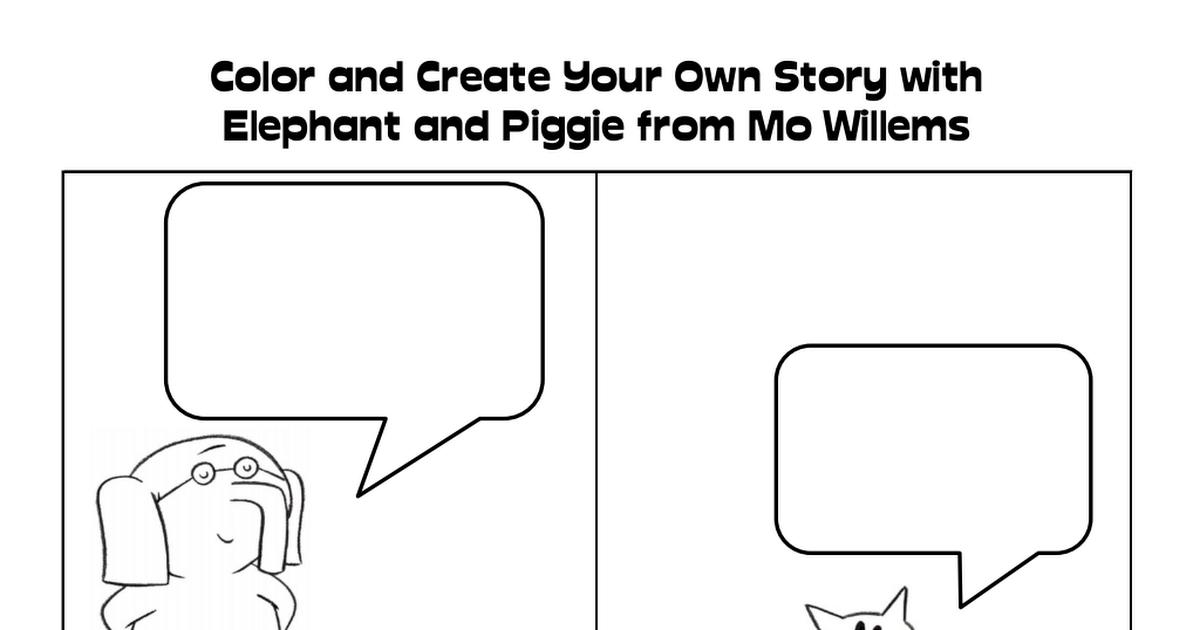 Elephant and Piggy.pdf | Elementary School aged | Pinterest