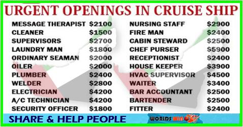 Dubai Uae Cruise Ship Jobs Apply Now Cruise Ship Cruise How To Apply