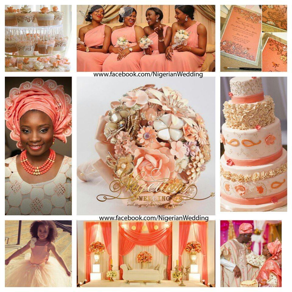 Peach Gold And Cream Wedding Color Scheme