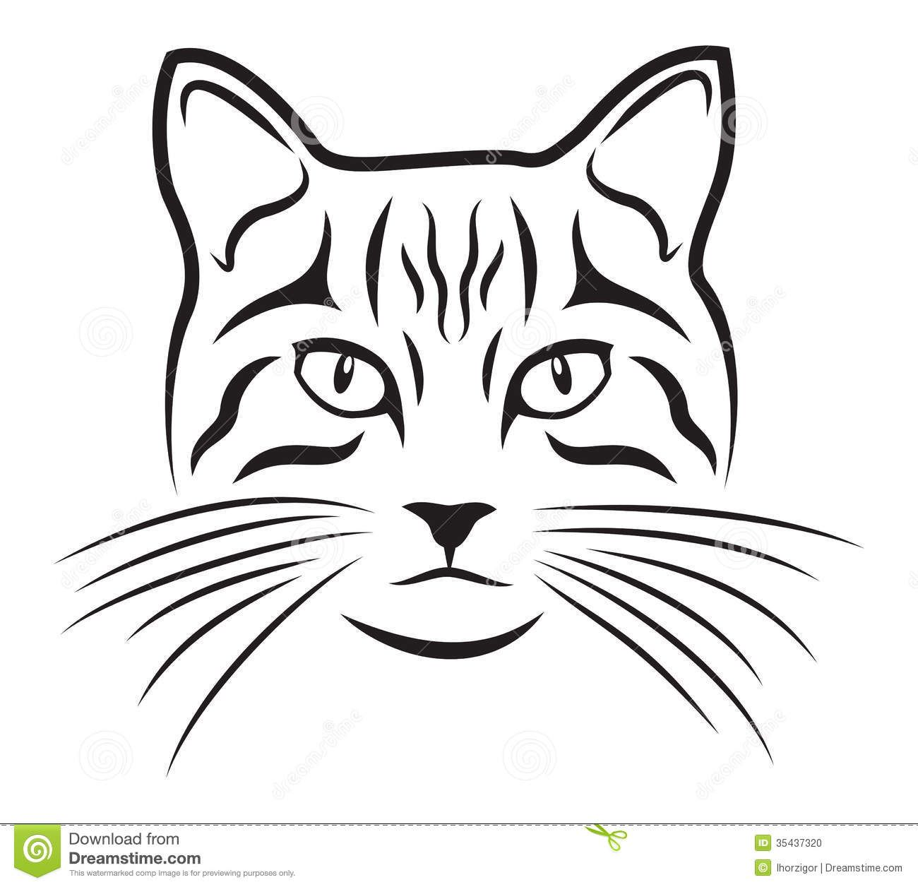 Line Drawing Face Clipart : Cat download from over million high quality stock