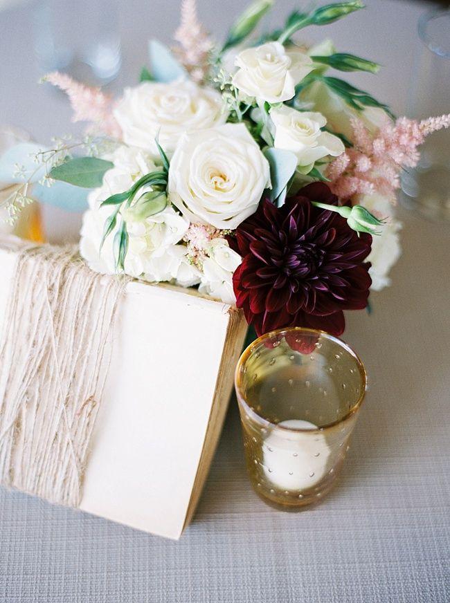 Book Themed Wedding Burgundy Cream Pink By Sasha Souza Events