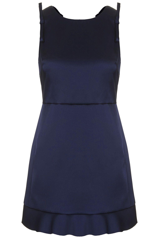 Frill Back Shift Dress - Topshop