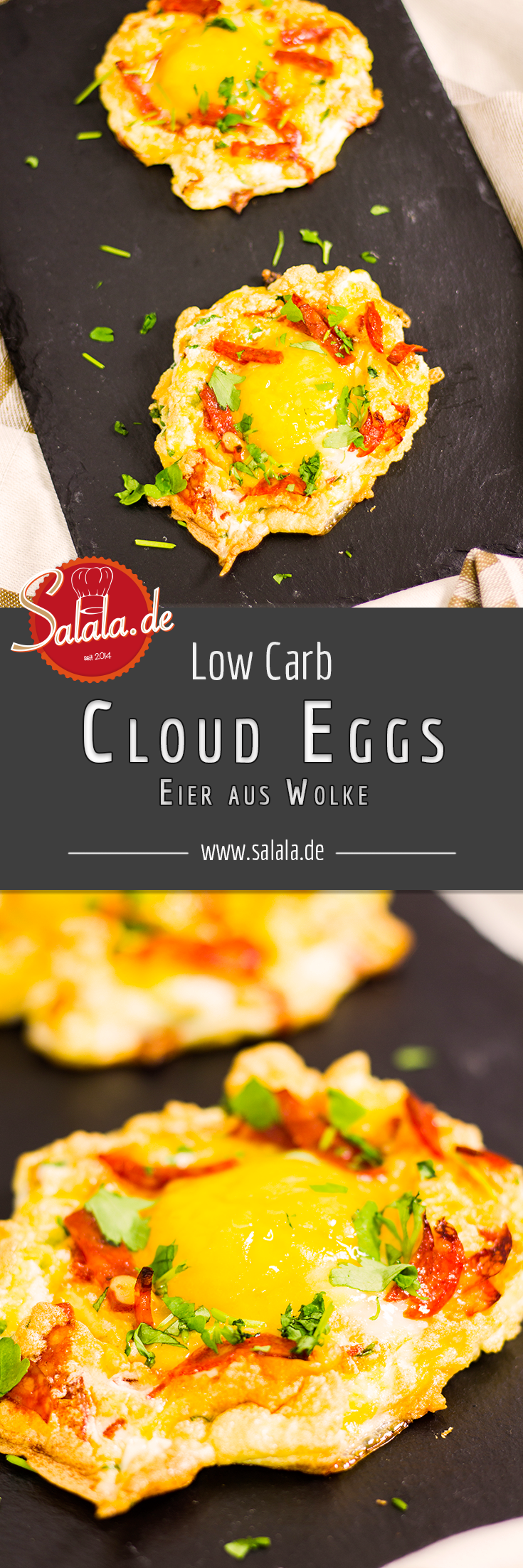 Low Carb Cloud Eggs mit Chorizo #cloudeggs