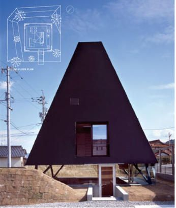 Have loved this house by Makoto Tanijiri for ages!! He hails from Suppose Design office which I like as well. I love the open glassed in ground level, the raised banks that provide privacy and the internal space at the stairwell.