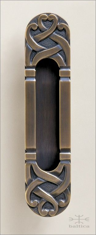 Telluride Recessed Pull   Antique Bronze   Custom Door Hardware
