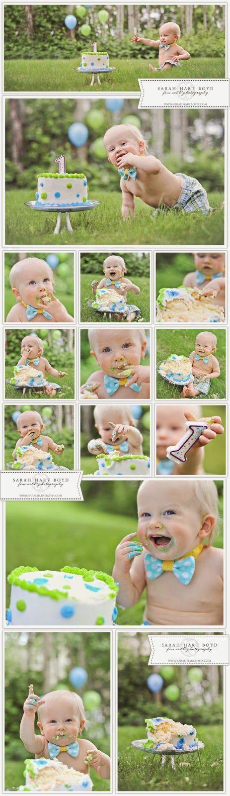 First Birthday Cake Smash Photo Session