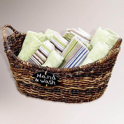 Madras Storage Baskets: Medium Oval Madras Chalkboard Basket Chalkboard Can Be