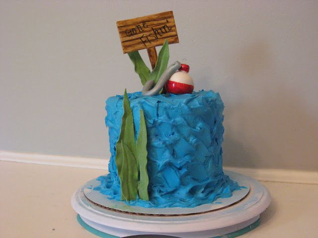 Gone fishing hook and bobber cake cakes pinterest for Gone fishing cake