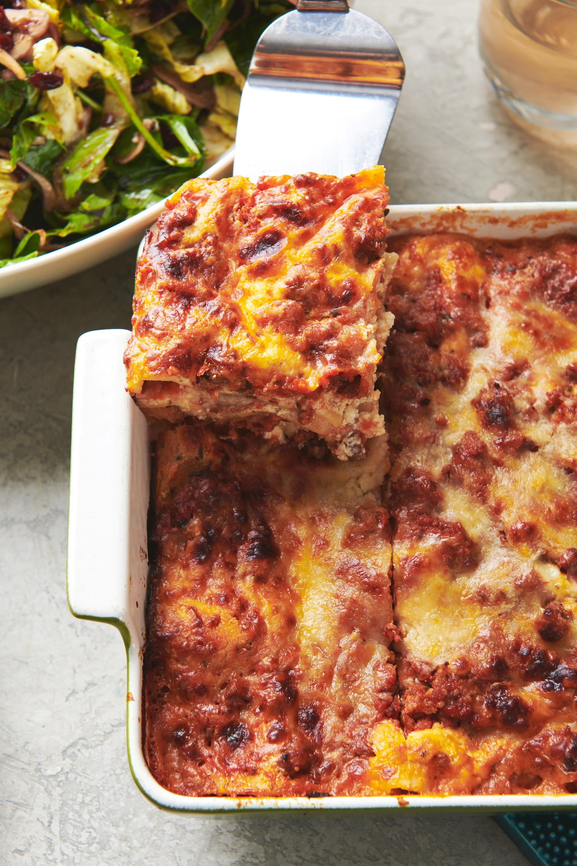 Classic cheesy beefy lasagna recipe this is probably the