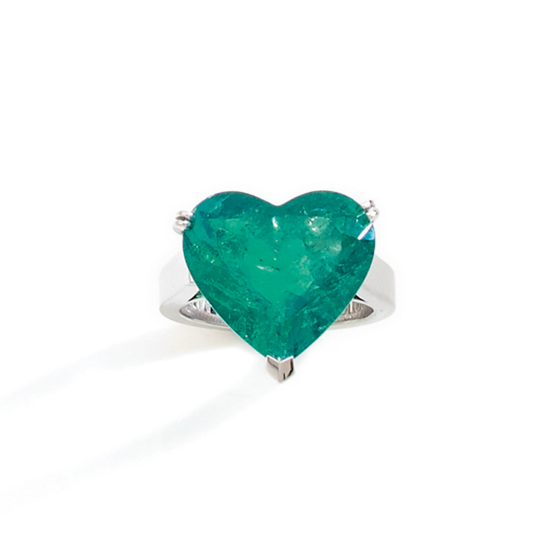 emerald shaped heart ring columbian product cp
