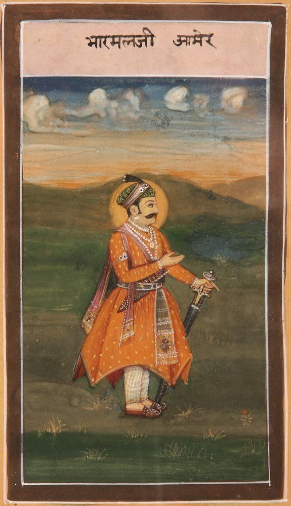 A painting of King Bharmal