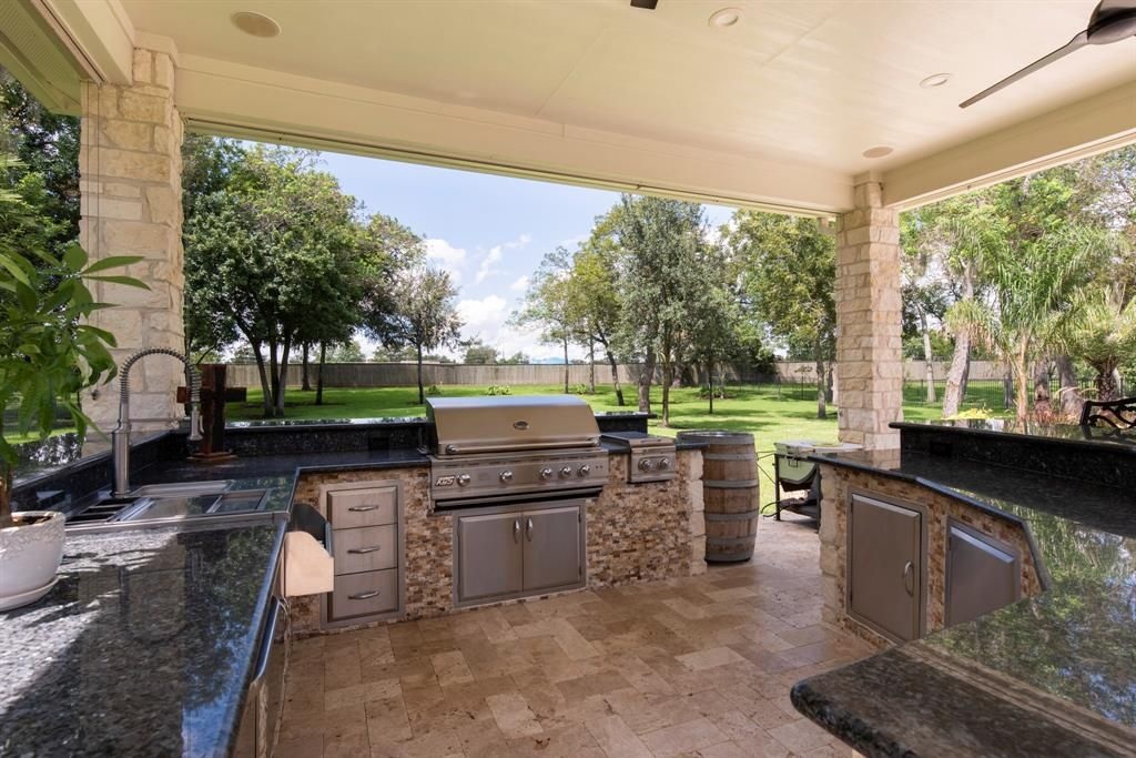 Houston Luxury Real Estate In Texas   An Outdoor Kitchen To Relax In Or  Entertain From #RealEstate #LuxuryRealEstate #HoustonLuxuryRealEstate # LuxuryHomes ...