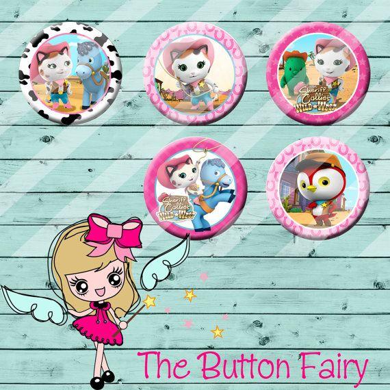Sheriff Callie Disney Jr Flatback Buttons
