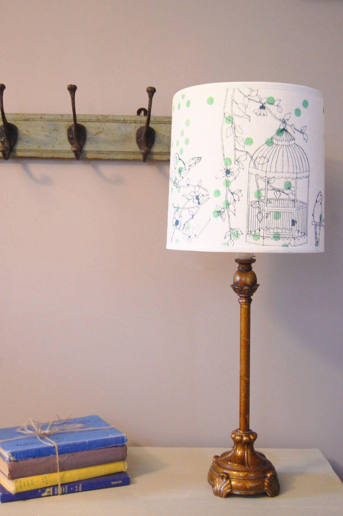 Felicity Design dotty bird lshade teal teal bird and living rooms