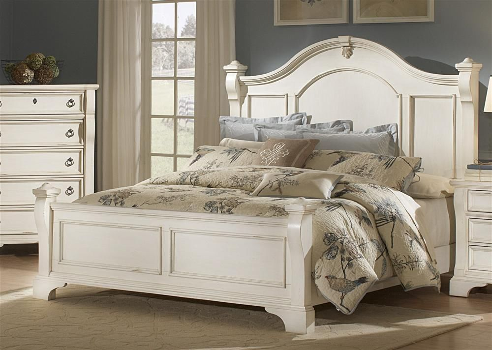 Best Heirloom Antique White Queen Poster Bed Queen Id 400 x 300