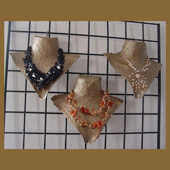 Pak 3 h ngenden handmade halskette displays jewelry organizer pinterest schmuck display - Schmuckhalter basteln ...
