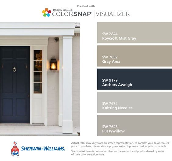 Front Door Color Research Paint Giveaway Colors Gray