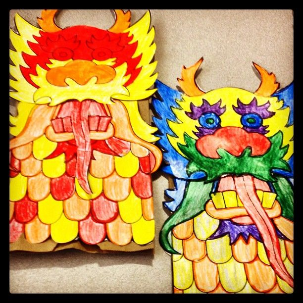 Dragon coloring project from my cousin's 1st grade class. She taught them well!