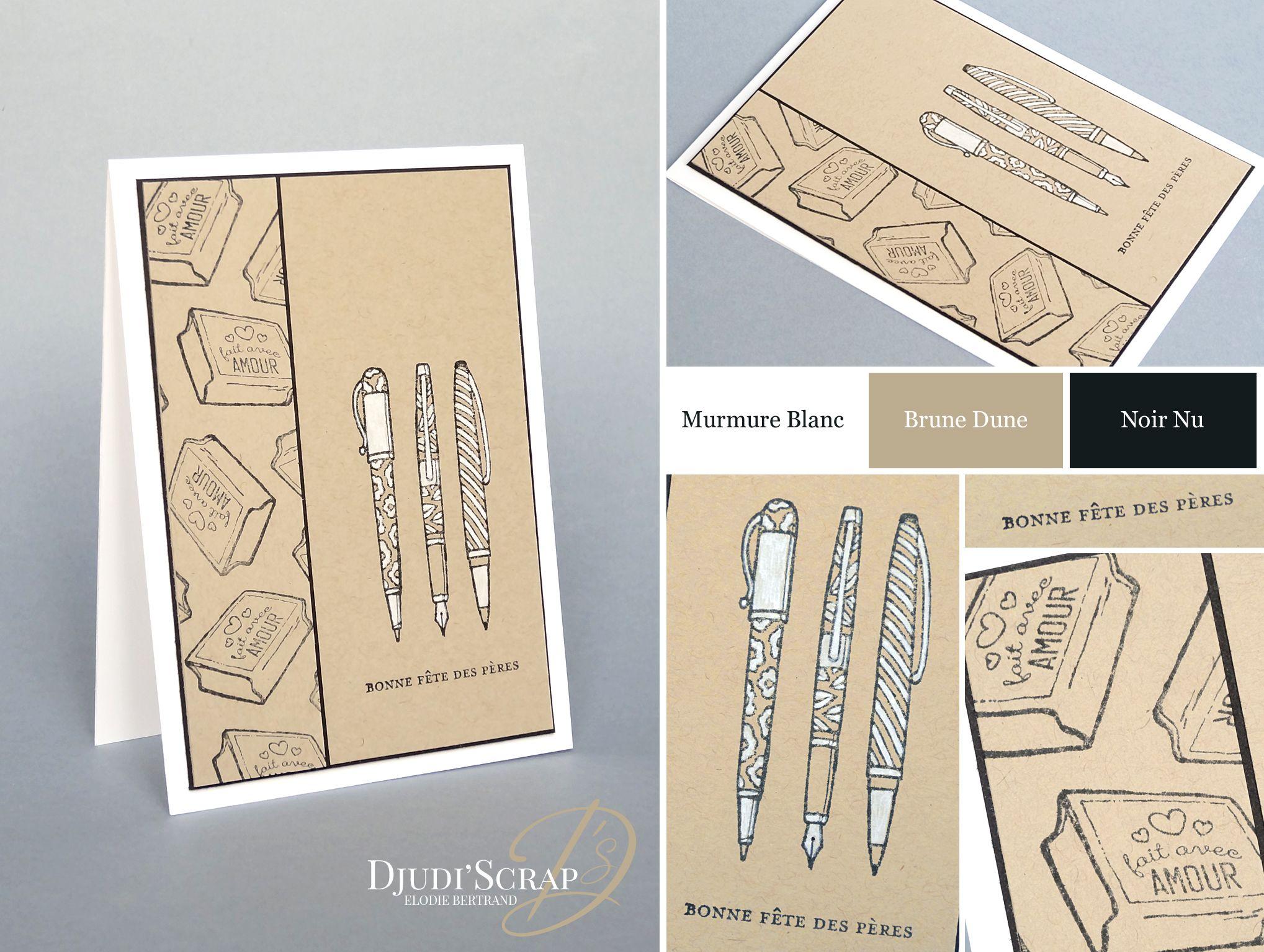 Stampin'Up! by Djudi'Scrap - Carte Fête des Pères «Set Créativité Toujours / Crafting Forever»
