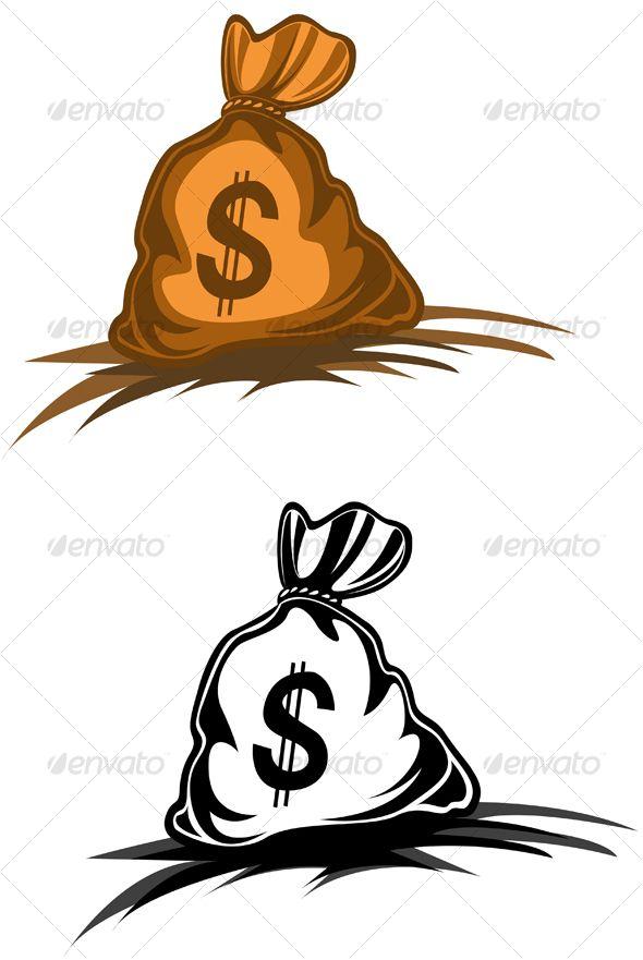 Small Money Bag Tattoo: Money Bag - Decorative Vectors