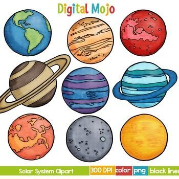 Solar System And Planet Clipart Planet Drawing Solar System Art Solar System