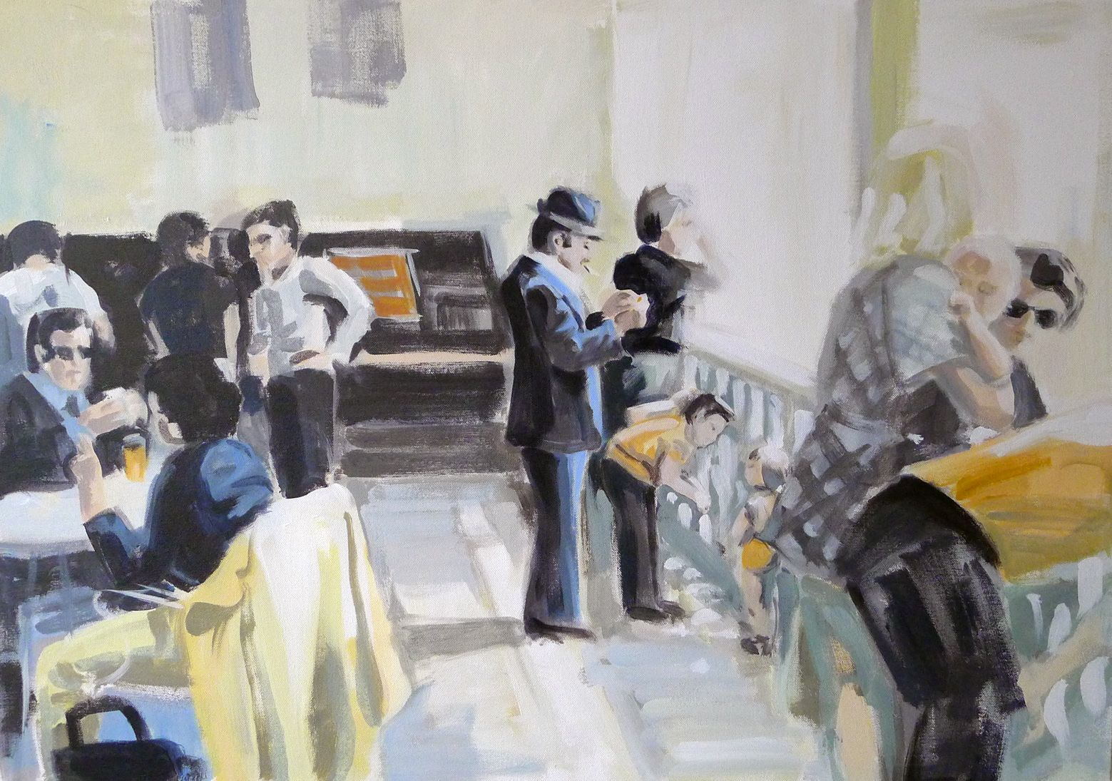 waiting - painting by Cécile Vrinten - SOLD