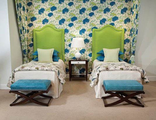 Marvelous Raised Twin Regency Headboards From Duralee Fine Furniture Give A Stately  Look To An Otherwise Fun