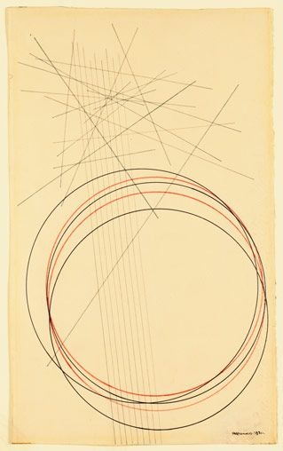 Linear Construction Alexander Rodchenko Vintage Constructivism Poster 1920