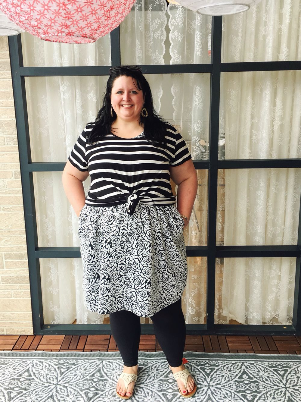 lularoe classic knotted over lularoe amelia; plus size fashion